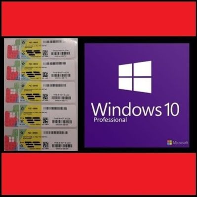 Çin Perakende Microsoft Windows 10 Pro Paketi, Windows COA Sticker 64/32 Bit Tedarikçi
