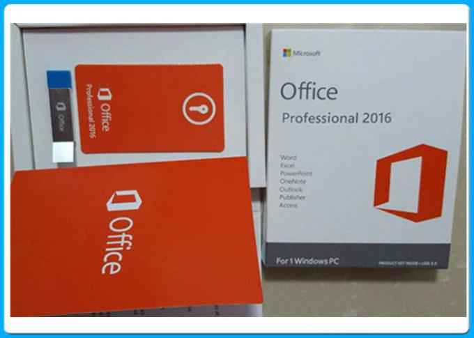 3.0 USB Microsoft Office 2016 Pro Plus Anahtar Lisansı, 1 Windows PC için