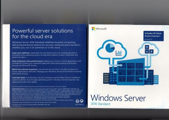 Çin 5 Clt Windows Server 2016 OEM R2 Standart DVD / CD 64 Bit Ortam Orijinal Distribütör